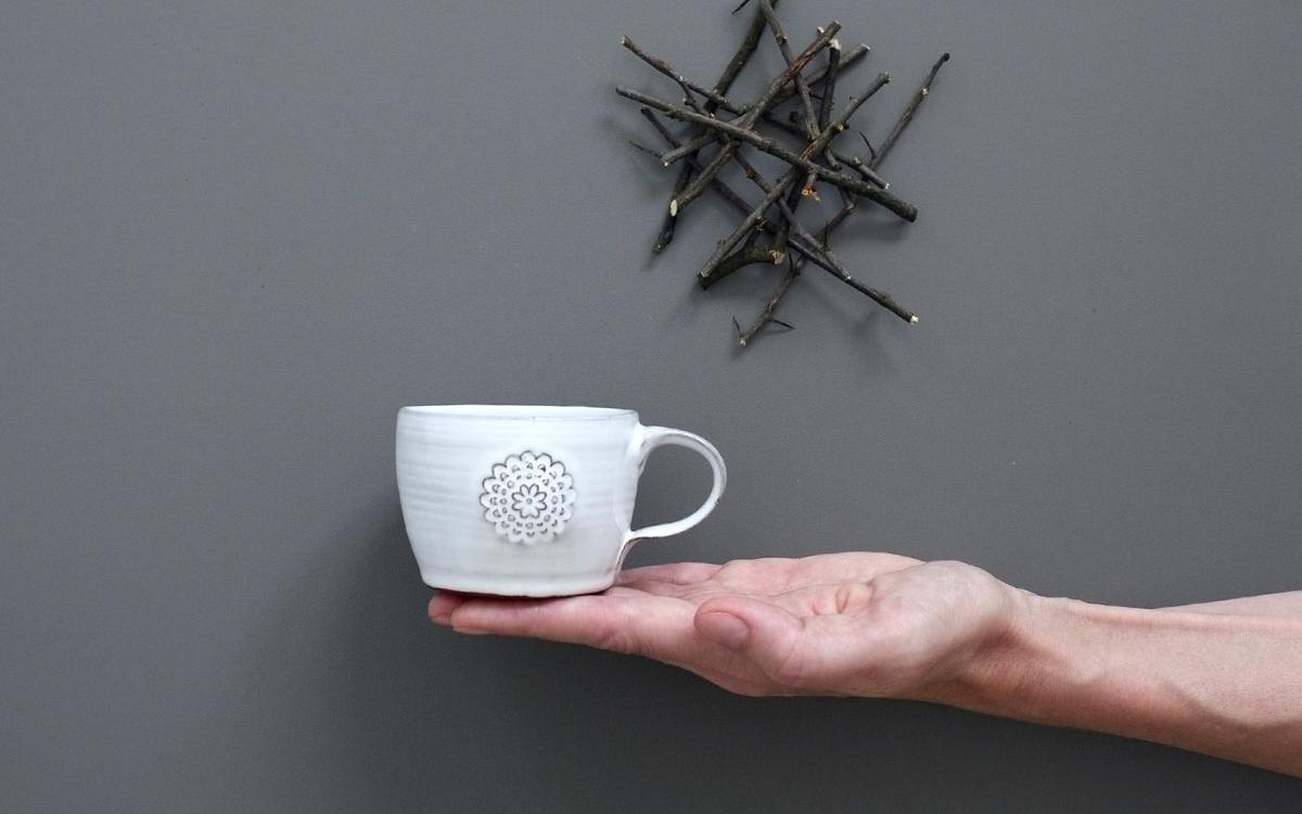 flower espresso hrnek