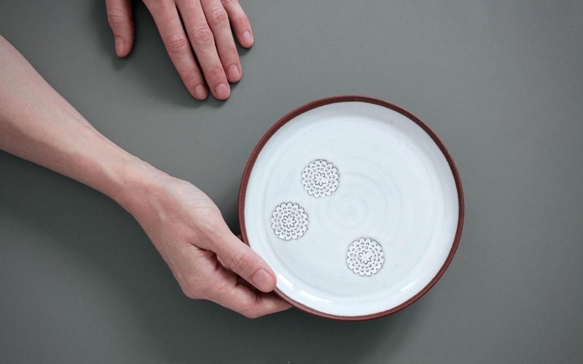 flower dezertní talíř