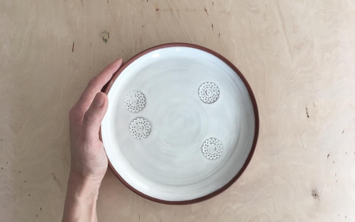 flower talíř velký