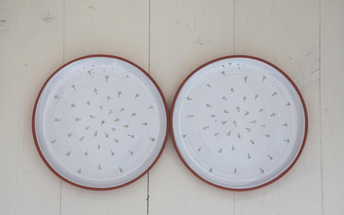 aušus  2 pomněnkové talíře