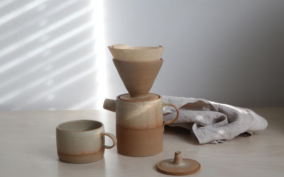 Sada  konvička, dripper, hrnek + zdarma 100 g kávy od Father's coffe